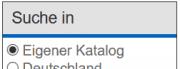"""Abbildung des Filters """"Suche in"""""""